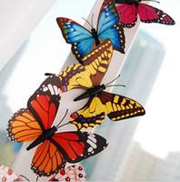 Animal beautiful fridge magnets - 6cm Beautiful Butterfly Fridge Magnets Cute Butterfly Pins Wedding Favors FM013