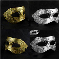 Wholesale Men s Rome Fighter Masquerade Mask Color Party and venetian Mask S004 By Freeship