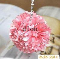 Zhejiang China (Mainland) fabric diameter.6cm Wholesale Free Shipping flower diamond mobile pendant