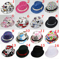 Wholesale Children s Fedoras Baby Cowboy Hat Kids Spring Summer Sun Hat Trilby Fedora Hat Top Hat amp Cap FH011