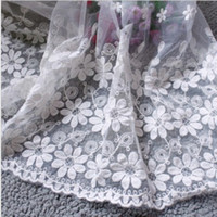 Wholesale Lace Fabric Sunflower Embroidery Lace For Clothing Wedding Dress Home Textiles Hair Accessory Yard