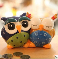 ceramic crafts - 2015 News Cute Owl Coin Collectors Coin Supply Home Decoration Novelty Crafts DEC03