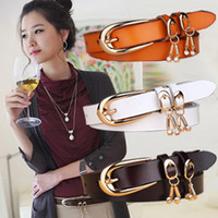 Wholesale Women s genuine leather pin buckle strap fashionable casual cowhide belt female rhinestone decoration