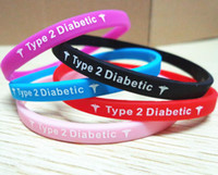 Wholesale Type Diabetes Insulin Dependent medical silcone wristband bracelet Best quality
