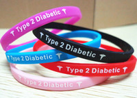 Jelly, Glow   slicone wristband Type 2 Diabetes Insulin Dependent medical silcone wristband bracelet hot selling free shipping