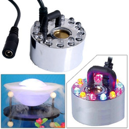 Wholesale New LED Colorful Light Ultrasonic Mist Maker Fogger Purify Water Fountain Pond