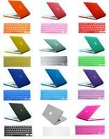 Wholesale Free Silicone Keyboard Skin Matt Transparent Rubberized Hard Case Cover For Macbook Air quot quot Pro quot quot