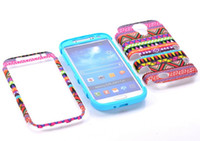 Wholesale Hybrid Silicone Tribal Case Cover For SAMSUNG GALAXY S4 i9500 in Dual layer Rubber Skin