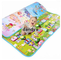 animal camp games - Cute Foldable cartoon style pp baby games pad waterproof beach mat Moistureproof mat camping and outdoor DZ02