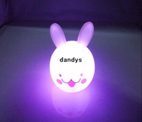 rabbits for sale - 2013 Hot sale colorful rabbit night light led night lights for baby room with box EMS shipping YD23