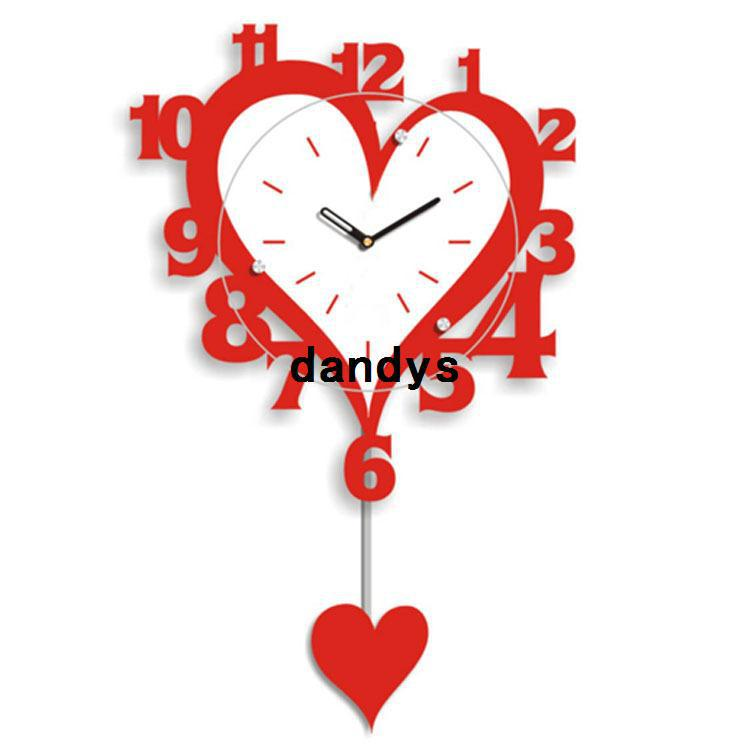 red love wall clock fashion wedding room wall clock 3655cm nz18 iron clock creative clock design clock frame online with 8628piece on dandyss store