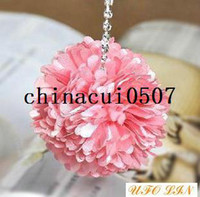Cheap Wholesale Free Shipping flower diamond mobile pendant