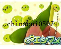 Wholesale New Kawaii Edamame Mameshiba Soybean Pod keychain mobile phone pendant press toys decompress toys