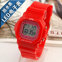 Analog Rubber  AUDI ots sports waterproof sheet child digital watch led jelly table red