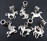 Charms antique horse bracelet - Sales Mix Antique Silver Alloy Horse Charms Beads Fit Charm Bracelet