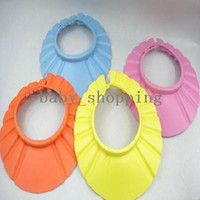 Babies PVC none free shipping!!! NEW Adjustable Safe Shampoo Shower Bath Cap for Baby Children