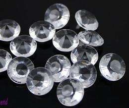 2017 tableau acrylique clair MIC 1000pcs / lot clair cristal acrylique Crystal confetti mariage table scatters 10mm Vente chaude de diamants en vrac bon marché tableau acrylique clair