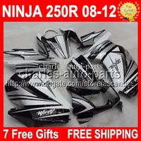 Wholesale 100 NEW Top Fairing For KAWASAKI NINJA R CL340 Silvery black white ZX250R ZX R ZX250 R