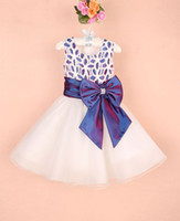 Wholesale New Children Girl Princess Dress PINK BIG BOW Kids Party Dress Girl Infant Garment