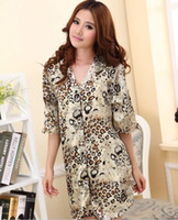 Women Pajamas Sets Regular summer female silk silk dress shirt shirt button cardigan Mens sexy pajamas