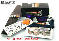 Wholesale Original Package For SPY OPTIC KEN BLOCK HELM Sports Sunglasses Brand Outdoor Sun glass Packs Best Promotion Packing sets