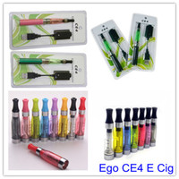 Wholesale Hot selling mah V V Adjustable ego battery CE4 clearomizer Electronic Cigarette single kit package OEM factory USB Charge