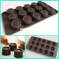 Wholesale Buttons Chocolate Candy Cookie Cup Cake Jelly Silicone Mould Mold Ice Tray Maker