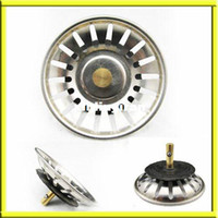 Wholesale Kitchen Basin Drain Dopant Sink Waste Strainer Basket Leach Plug Stainless Steel