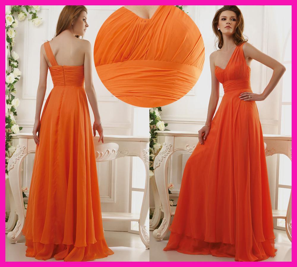 Image gallery orange bridesmaids dresses ombrellifo Gallery