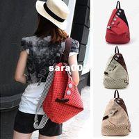 Wholesale Girls Canvas Backpack Rucksack Womens School Shoulder Bag Shopper Hiking Bookbag