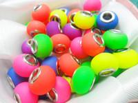 big hole beads - Big Hole Beads For Pandora Acrylic Fluorescence Oval Loose Bead Fit Bracelets Jewelry New Arrival