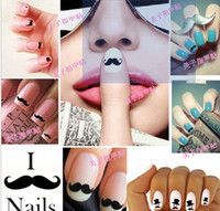 Wholesale New Creative Nail Art Sticker Popular Nail Sticker D Nail Stickers DIY mustache Nail decals