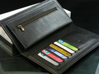 Wholesale Brand New High Quality Men Man Fashion Cool Business Solid Bi fold Long Leather PU Wallet Money Clip Card Holder Purse