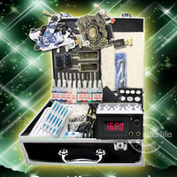 Wholesale NEW COMPLETE TATTOO KIT MACHINE GUNS POWER SUPPLIES NEEDLES INKS SET EQUIPMENT USA Warehouse K201B