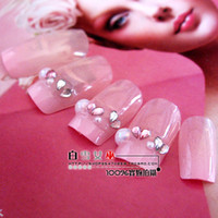 Nail File Metal Light Bride nail art patch nail art slice false nail glue finished product 3d French paillette 24 3pcs set
