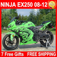 Fairing Black flames green fits KAWASAKI ! NINJA 250R 08 09 ...