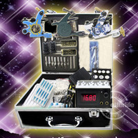 USA   Tatoo Supplies Beginner Tattoo Sest Professional Tattoo Kits 3 Machines Guns Power Supplies Needles Set Equipment(USA warehouse)K201B