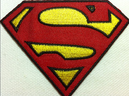 Wholesale Wholeslae High Quality Comic Movie Superman Embroidered Iron On Applique Patch