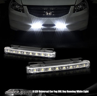 Wholesale New Super White LED Universal Car Light Daytime Running Auto Lamp DRL Auxiliary Light In The Day