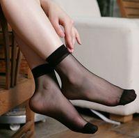 Wholesale women s silk socks Crystal Socks Girls Short