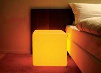 Wholesale Creative lighting furniture LED bench CM Square bench RGB color bench bar home bar decor set