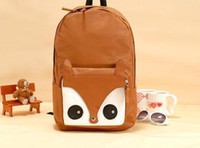 Wholesale Cheap School Bag Backpack Style Cute Fox Pink Brown Black Color Mix Order B13