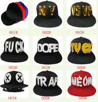 Wholesale Snapback Men s Cap Hat Acrylic D Letters Rivet Spikes Bolted many design U choice