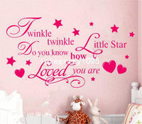 twinkle little star prices - TWINKLE TWINKLE LITTLE STAR QUOTE WALL STICKER Decal KID BEDROOM DIY Removable F
