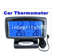 Infrared Thermometer automotive forecasts - LCD Display Car clock with Hygrometer Digital Automotive Thermometer Weather Forecast