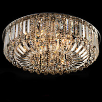 Wholesale New Modern K9 Crystal LED Chandelier Ceiling Light Pendant Lamp Lighting cm