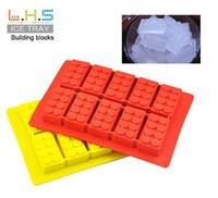 Wholesale Hot sale Most Fashionable LFGB Ice Mold Silicone Ice Cube Lego blocks ice Tray