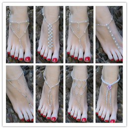 Wholesale Fashion Jewelry Summer Hawaii Style Toe Thongs Anklets Ankle Chains A Best Decorative For Your barefeet on a beach wedding