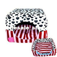 Wholesale 2013 NEW Autumn and winter pet cat litter cotton Waterloo two purpose velvet warm keeping oval dog house size M