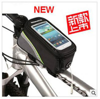 Wholesale 2013 New Waterproof Cycling Bike Bicycle Frame Pannier Front Tube Bag For Cell Phone Inch Colors